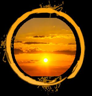 Orange Ring with sunset